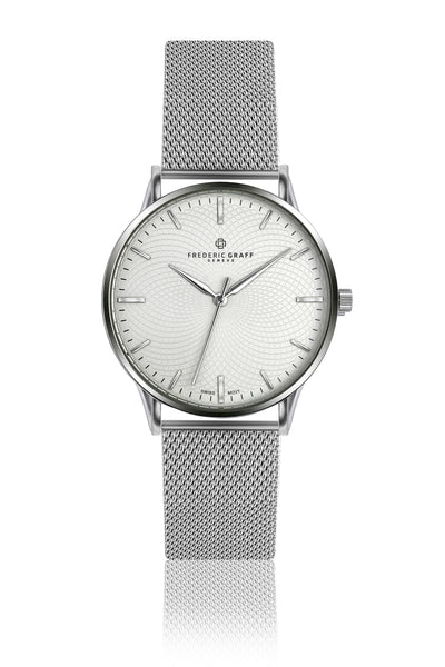 Everest Silver Fine Mesh Watch