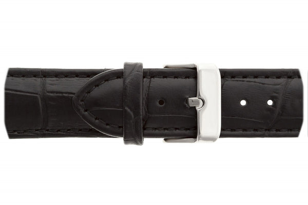 Everest Black Croco Leather Strap Watch
