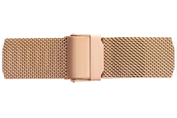 Lhotse Rose Gold Fine Mesh Watch