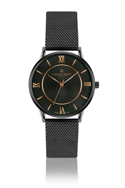 Lhotse Black Mesh Watch