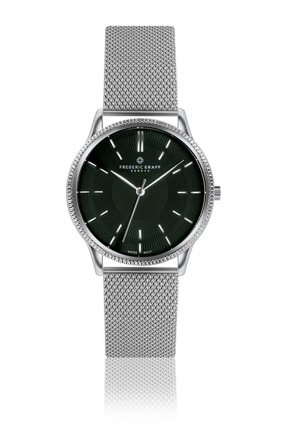Broad Peak Silver Fine Mesh Watch
