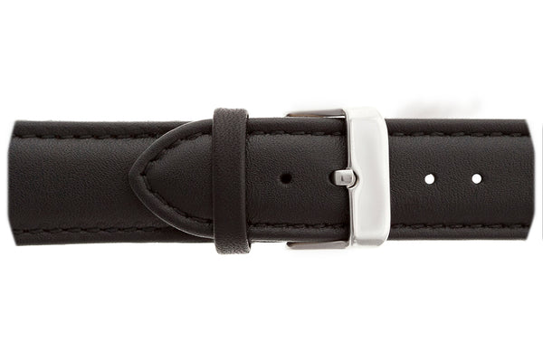 Broad Peak Black Leather Strap Watch