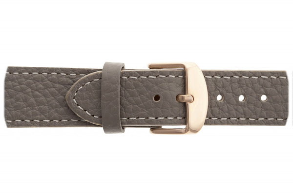 Batura Star Lychee Grey Leather Strap Watch