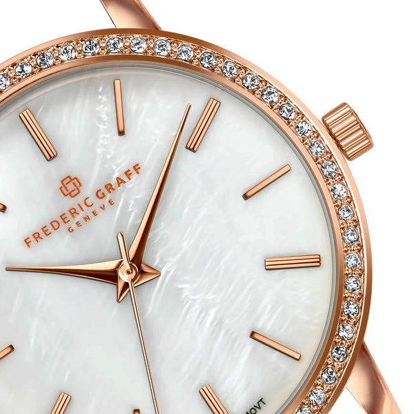 Kamet Rose Gold Fine Mesh Watch