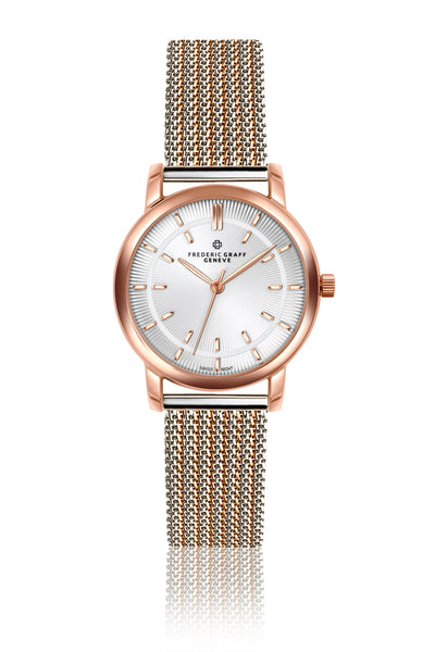 Sitamma Konda Two Tones Mesh Watch