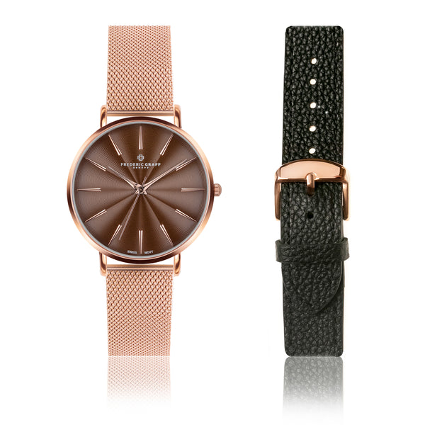 Set of Watch and Bracelet Rose Monte