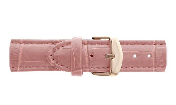 Rose Eveque Rose Gold Mesh Watch & Pink Croco Leather Strap