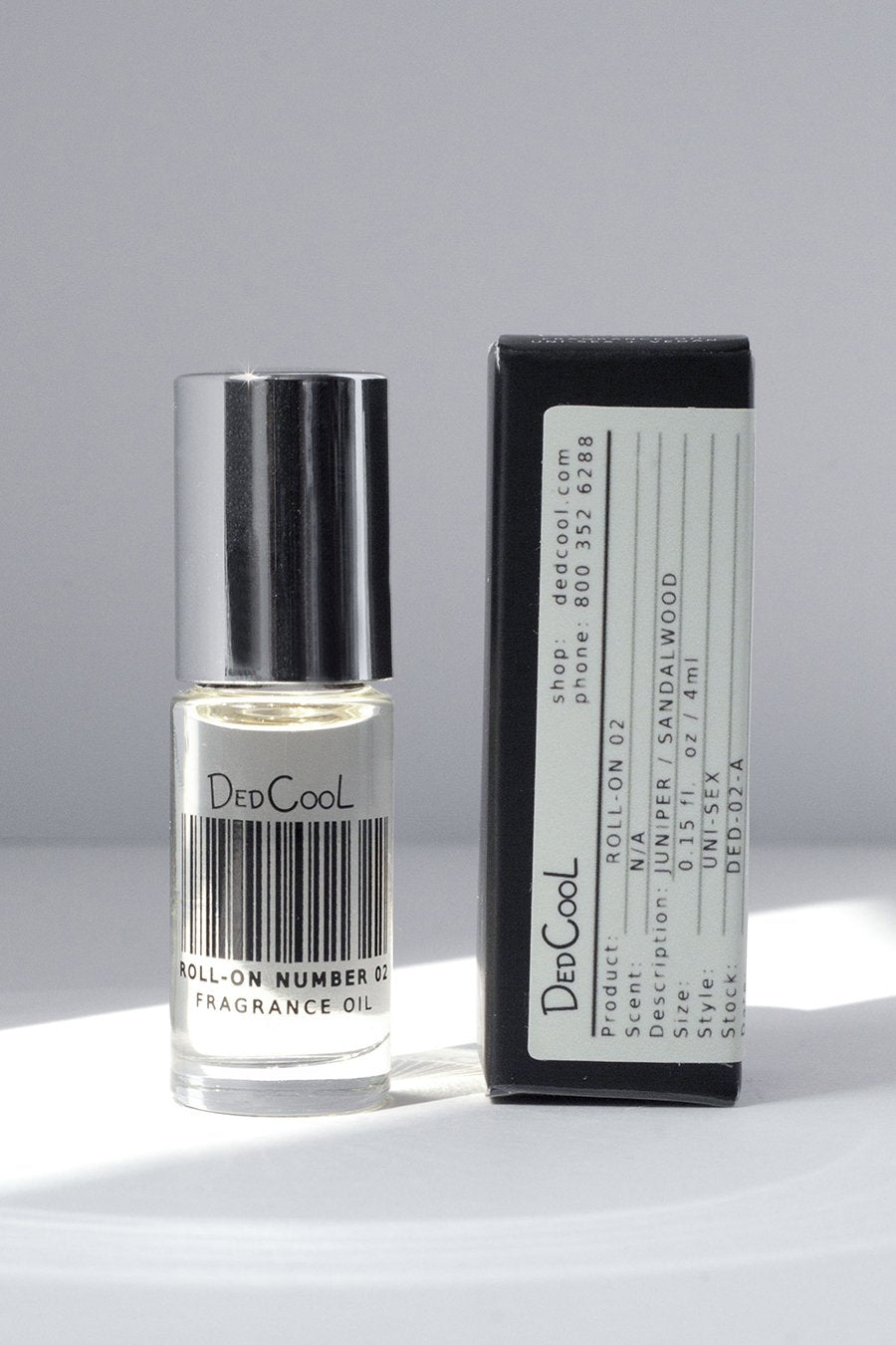 DedCool Roll-On 02. Uni-Sex, Non-Toxic, Vegan, Natural, Clean, Safe, Organic Fragrance Oil. Made in Los Angeles.