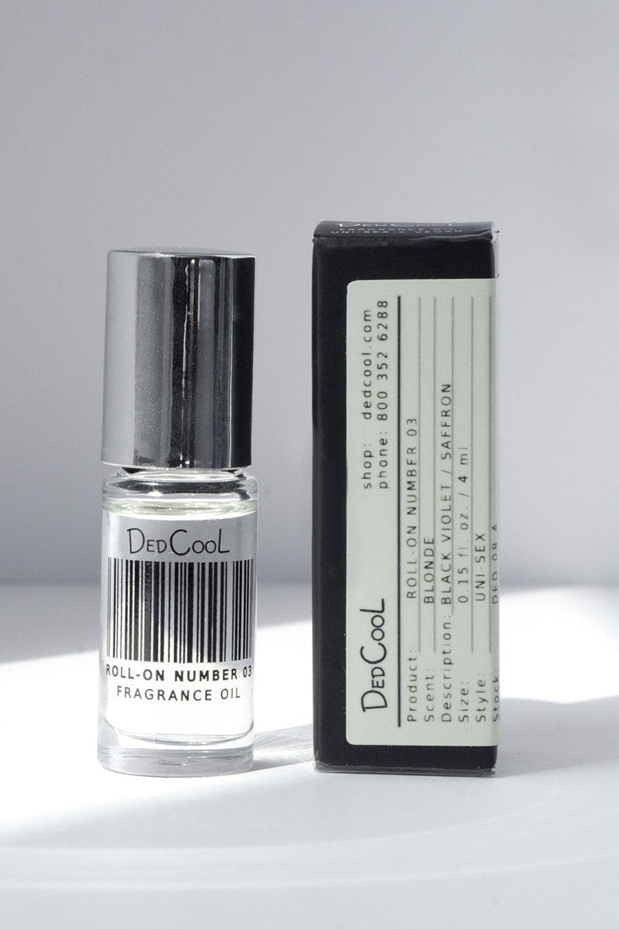 DedCool Roll-On 03 Blonde. Uni-Sex, Non-Toxic, Vegan, Natural, Clean, Safe, Organic Fragrance Oil. Made in Los Angeles.