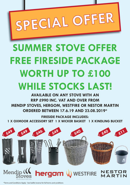 Special Offer - Summer Stove Offer with Free Fireside Package