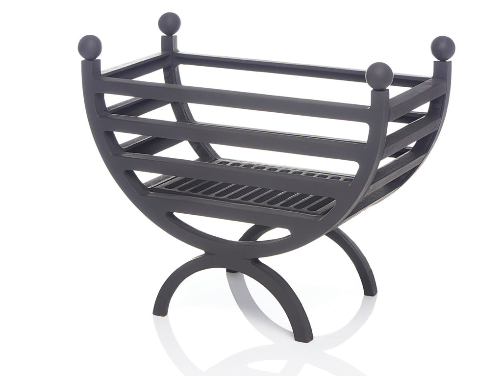The Kirton Polished Black Reversible Firebasket