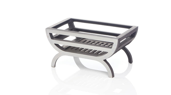 The Topaz Polished and Black Reversible Firebasket