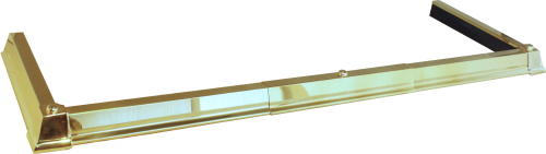 Classic Base Hearth Fender - Solid Brass
