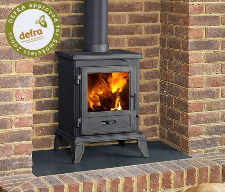 Capital Fireplaces The Quadrical 405 Multi Fuel Stove