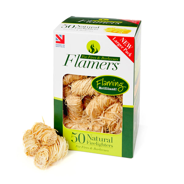Flamers Firelighters - 50 Pack Box