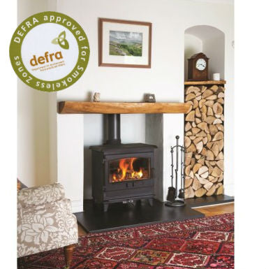 Croft Clearburn Small 8Kw Wood Burning Stove - Rolled Edge Flat Top