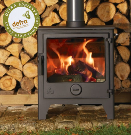 Ex Display Dartmoor W5 Multi Fuel Stove Flat Black