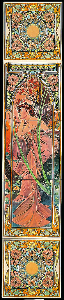 Tube Lined Tiles - Alphonse Mucha Collection - Evening Reverie