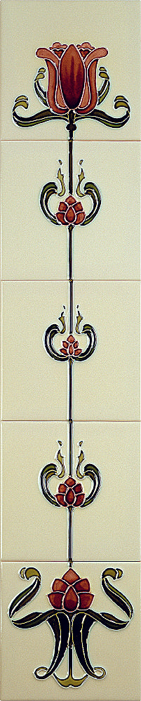 Tube Lined Tiles - Tulip Collection