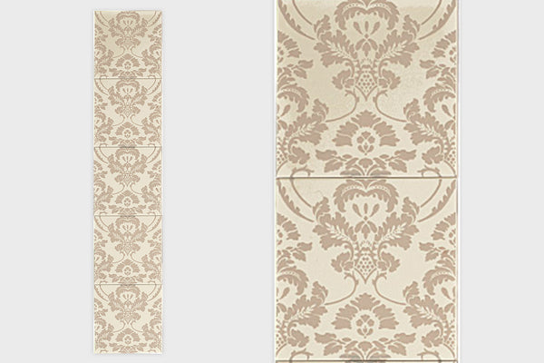 Transfer Tile - Victorian Flock Cream