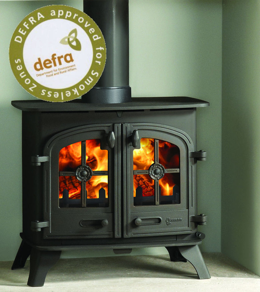 Ex Display Devon Double Door  - Multi Fuel Stove Matt Black