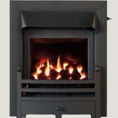 Glass Fronted Gas Convector Fire - Black