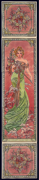 Tube Lined Tiles - Alphonse Mucha Collection - Spring