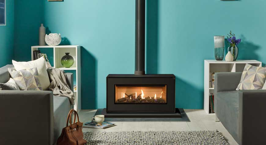 Studio 2 Gas Fire  - Freestanding Conventional Flue