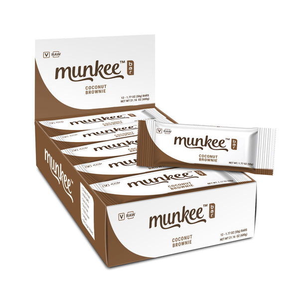 Munkee Bar Coconut Brownie Box of 12