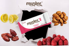 Munkee Bar Raspberry Lemonade Energy Bar