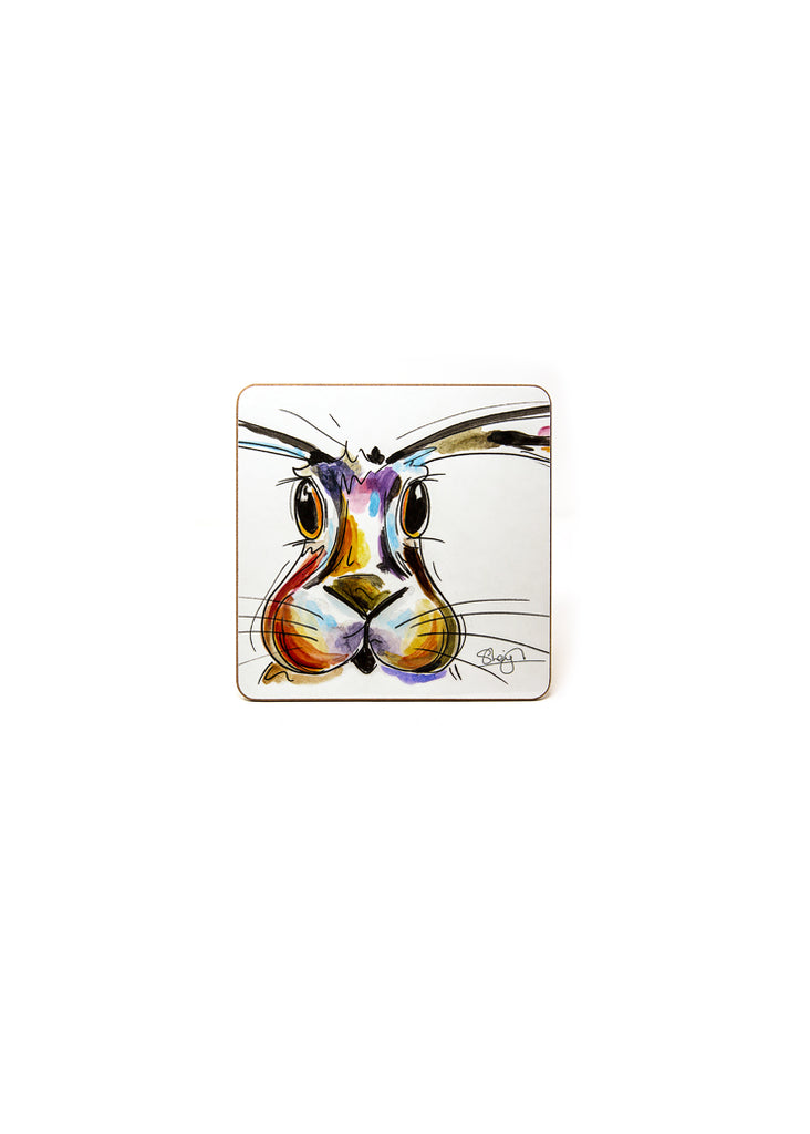 'Hope' the Hare - A Melamine Coaster by Susan Leigh