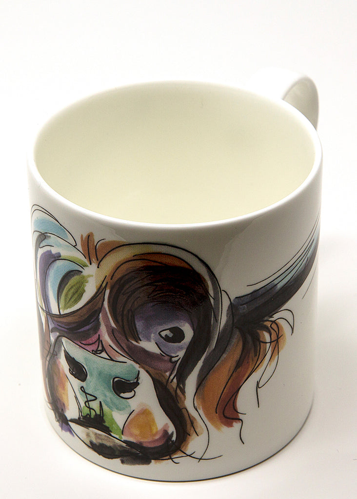 'Horatio' the Highland Cow - A Fine Bone China Mug by Susan Leigh