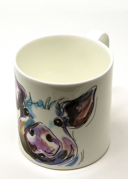 'Prudence' the Pig  - A Fine Bone China Mug by Susan Leigh