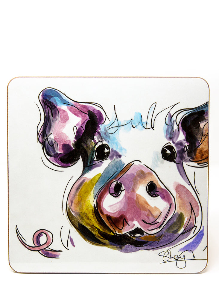 'Prudence' the Pig  - A Placemat by Susan Leigh