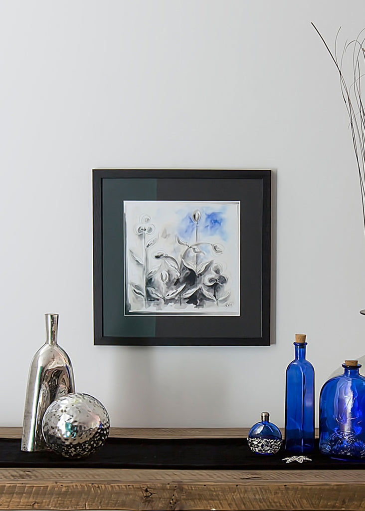 Blue Abstract - Framed Print by Susan Leigh
