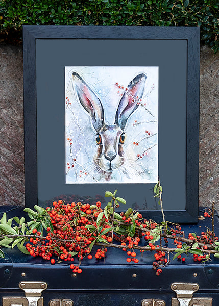 Christmas Hare - A Framed Print by Susan Leigh