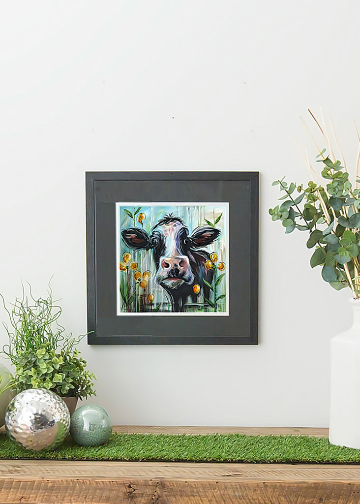 Cow - Framed Print by susan Leigh