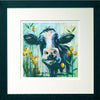 Cow with Black Frame and White Mount
