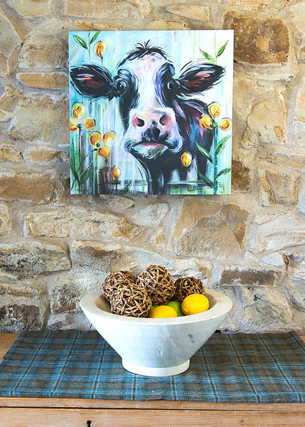 Cow - Art Canvas by Susan Leigh