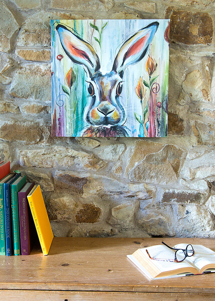 Hare - Art Canvas by Susan Leigh