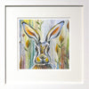 Hare White Frame with White Mount