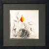 Orange Abstract - Black Frame with Black Mount