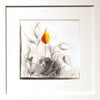 Orange Abstract - White Frame with White Mount