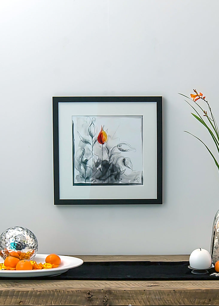 Orange Abstract - Framed Print by Susan Leigh