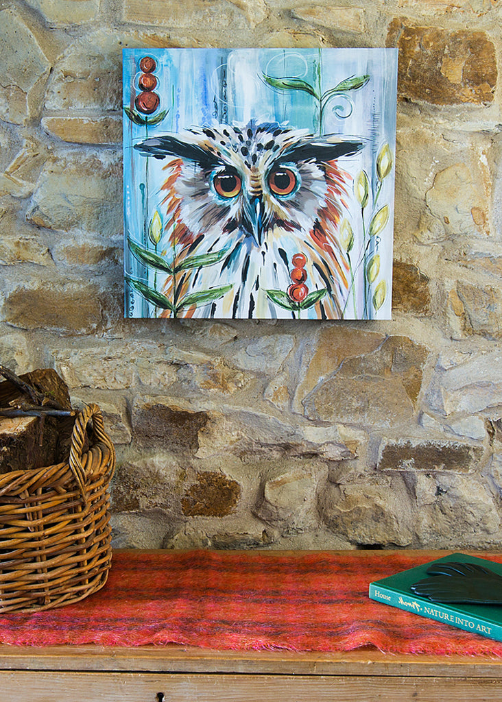 Owl - Art Canvas by Susan Leigh