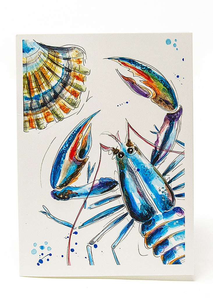 'Don't be shellfish'  - A Greeting Card by Susan Leigh
