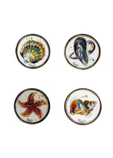 Seaside - Set of Four Melamine Coasters by Susan Leigh