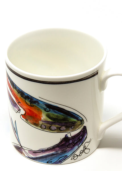 'Don't be shellfish'  - A Fine Bone China Mug by Susan Leigh