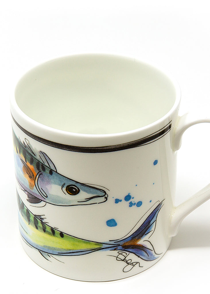 'Mackerel' - A Fine Bone China Mug by Susan Leigh