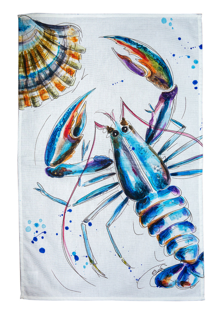 'Don't be shellfish'  - A Tea Towel by Susan Leigh